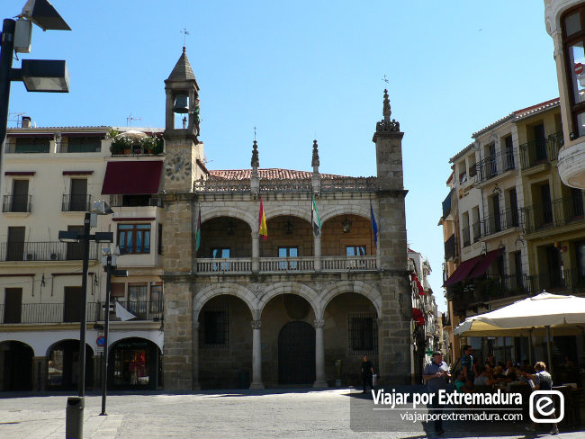 Plaza Mayor de Plasencia. Palacio Municipal.